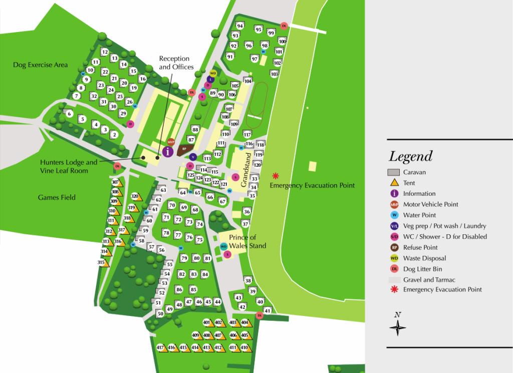 Fakenham Racecourse Caravan Map