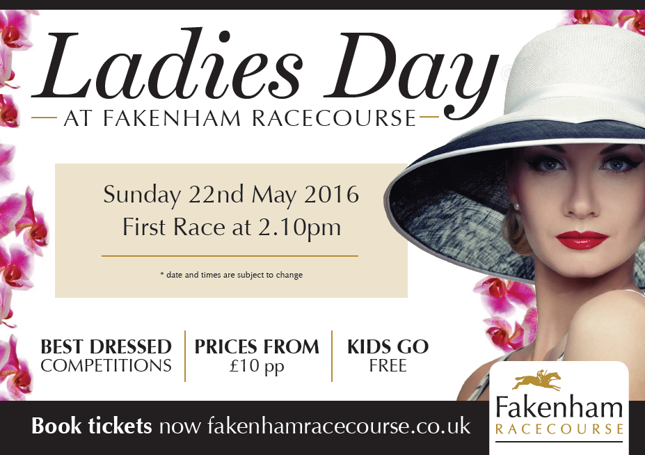 Ladies Day, Sunday 22nd May 2016