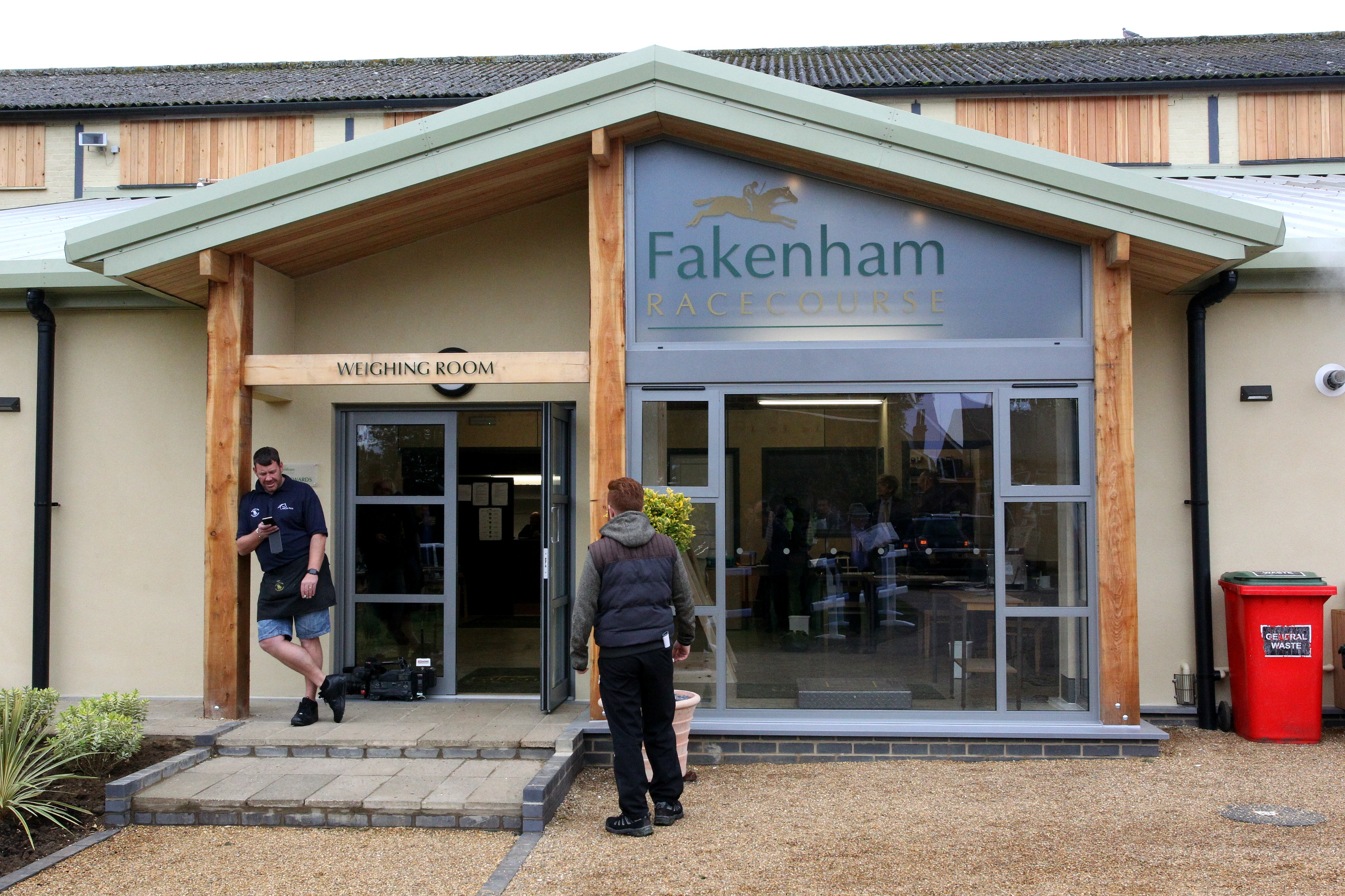 The Weigh-In room at Fakenham Racecourse