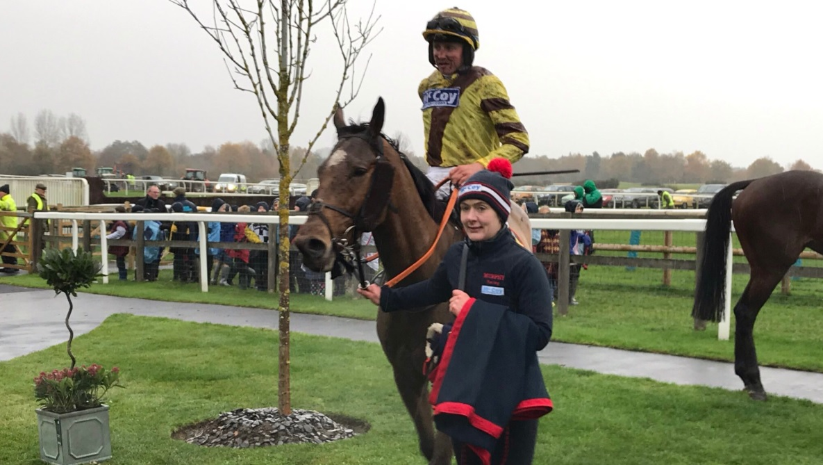 Olly Murphy celebrates a milestone moment with the 100th winner of his career