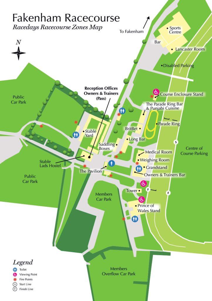 Fakenham Racecourse Raceday Site Map 2020