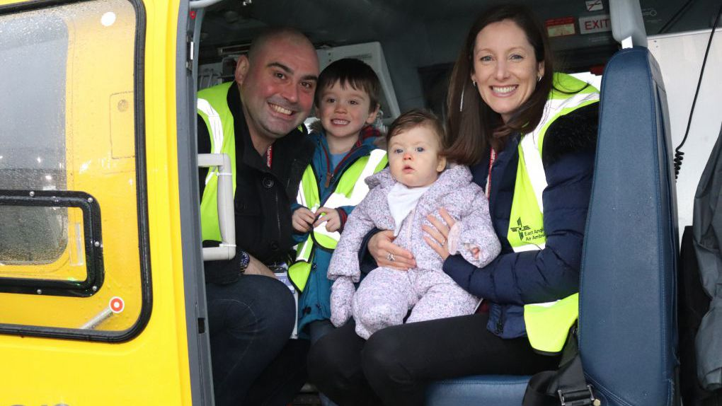 Emma and baby Jessie ( now called Willow) saved by East Anglian Air Ambulance